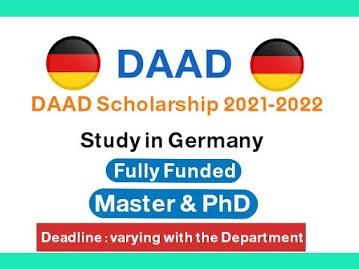 منحة DAAD الألمانية الممولة بالكامل لدراسة الماجستير والدكتوراه لعام 2021 - 2022