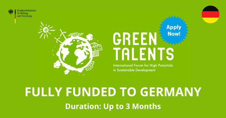 منحة المواهب الخضراء الممولة بالكامل من BMBF في ألمانيا 2021-2022